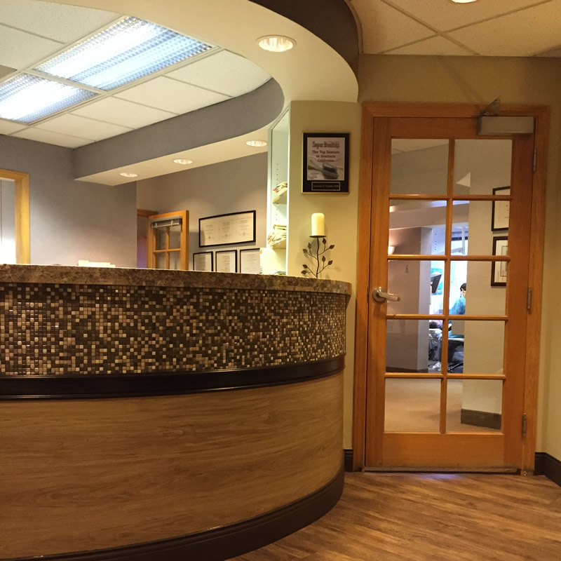 Come to our dental office and meet us at the front desk.